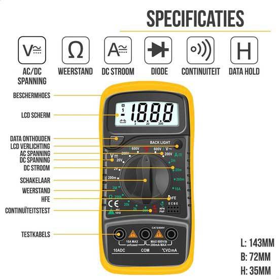 Strex-SP0045-Multimeter-inhoud review test