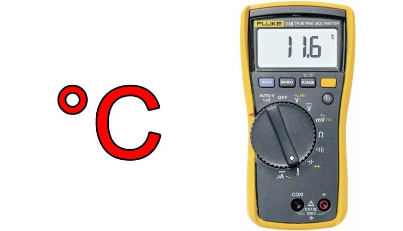 multimeter temperatuur