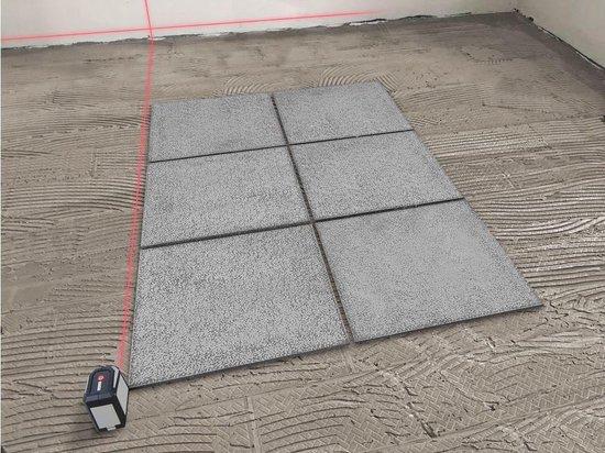 kruislijnlaser tegels plaatsen